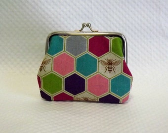 Coin Purse - Change Purse - Pink Coin purse - Honey Bee Change Purse