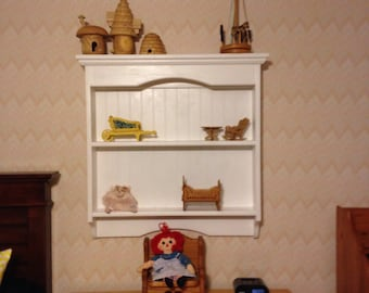 Display Rack Wood Knick Knack Wall Shelf Display Pine Unfinished Wall Hanging