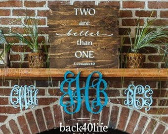 Two are Better than One Pallet Style Wood Sign (W-063)- Bible Verse