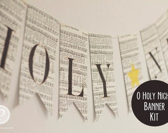 Premade Oh Holy Night Banner (6')