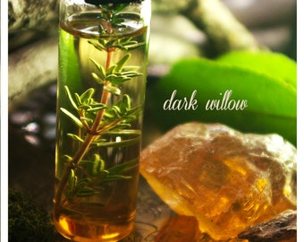 dark willow - botanical perfume oil of patchouli, cedar & amber meticulously forged to be an exercise in seduction - 1/2 oz