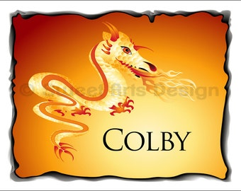 Fire Dragon  -  Wall Print (or) Greeting Cards