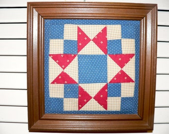 Primitive Hand Quilted Wall Decor, Quilting, Home Decor, Americana, Quilts, Hand Quilted,Prim Quilt, Home Decor, Primitive Decor,    HAFAIR