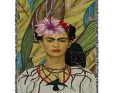 Unique Frida Kahlo Woven Blanket Rug