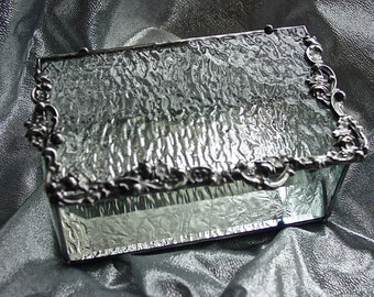 Textured glass box