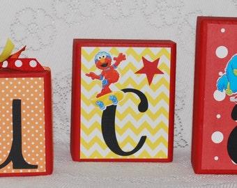 Sesame Street Birthday Name Block Letters . Lucas
