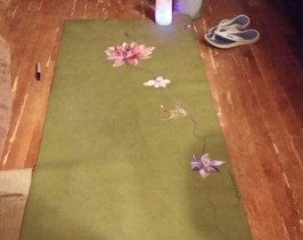 Unique and most inspirational painted yoga mat