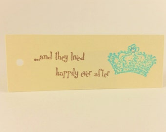 Wedding Tags Happily Ever After Crown Princess Set of 50