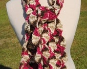 Chocolate Chip with Cherries Circle Scarf