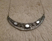 Sterling Silver 925 Chocker with moonstone gemstones Indian Bollywood Style