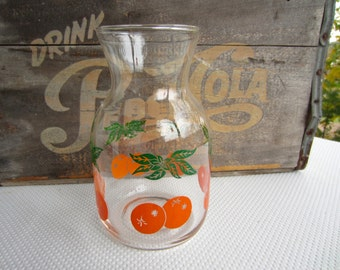 Vintage Glass Orange Juice Pitcher Carafe