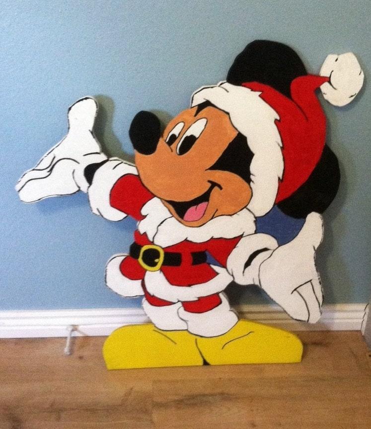 Santa Pattern Cut Out Santa Mickey Mouse Wood Cut