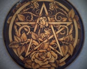RESERVED for Ashley Robb -  Final Payment - Rose Pentacle