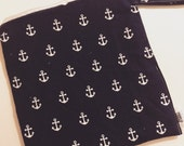 Blue Anchors - 10x10 Sweet Bobbins Wet Bag - SEAM SEALED - Snap Strap - Boutique Quality
