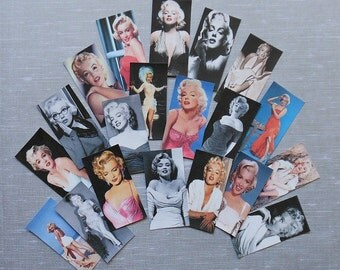 YOUR CHOICE Marilyn Monroe STICKER Sets- Domino sized, Med. or Super Set- Marilyn Monroe photograph Marilyn Monroe color pix Marilyn sticker