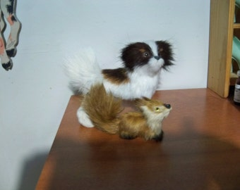 furry dog and his furry fox friend