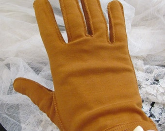 Vintage Ladies Soft Cotton Wrist Gloves - Wear Right Germany Size 7