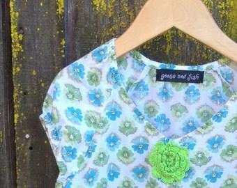 upcycled girls dress size 6/7