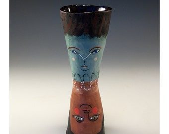 A Cup by Jenny Mendes -  Four Faces - Ceramic Cup