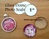 "50 1"" CLEAR Round  Adhesive Easy INSTANT Seals for Glass Domes, Photo Jewelry.  Alternative to Resin and Glaze."