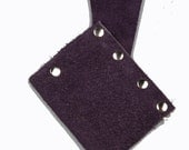 Small suede leather scabbard purple larp ren faire sword holder game of thrones