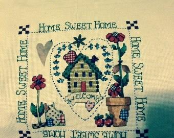 HOME SWEET HOME Finished Sampler