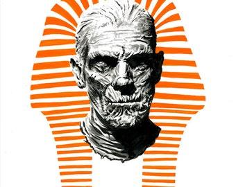 Original Boris Karloff Mummy drawing