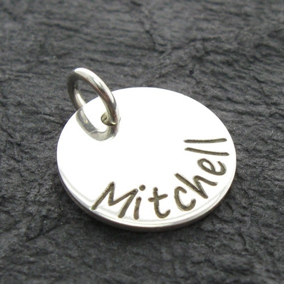 personalized 9 16 name charm engraved charm