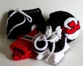 Devils Baby Set, New Jersey Devils, NHL Devils Hockey baby Uniform