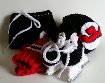 Devils Baby Set, New Jersey Devils, NHL Devils Hockey baby Uniform