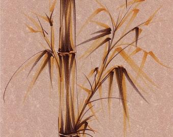 WHISPY MEADOW - Original sumie ink brush pen painting