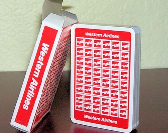 Playing Cards WESTERN AIRLINES  pre 1987