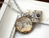 Globetrotter Nostalgic Silver Necklace
