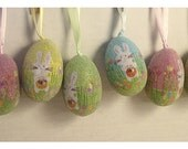 Easter Eggs Decoration/Assorted Set of 6/Holiday Decor/ Craft supplies*