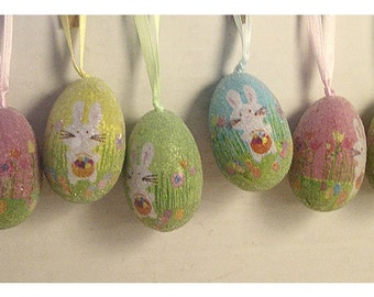Easter Eggs Decoration/Assorted Set of 6/Craft supplies*