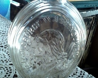 Vintage Clear Glass George Washington Bottle