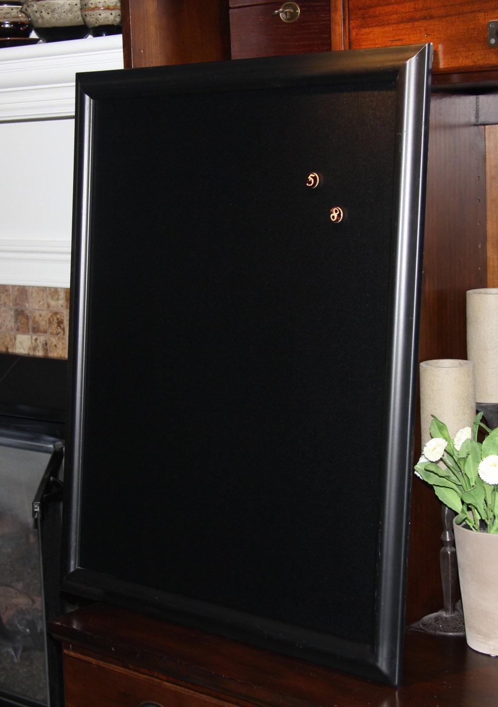 Extra Large Black Framed Magnetic Chalkboard 25 X 31