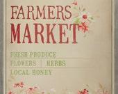 Farmers Market 11x14 art print