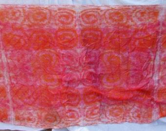 Silk Veil Pink, Orange and White Tiedye Swirl BlueMoonstone Bellydance