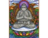 Namaste Yeti Mini Print