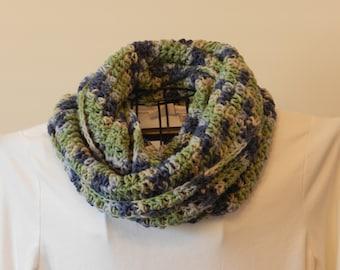 Crocheted Cowl/ Infinity Scarf/ Seaside Crocheted Infinity Scarf