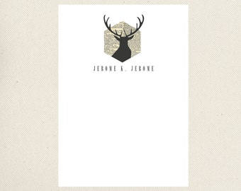Deer Personalized Note Cards