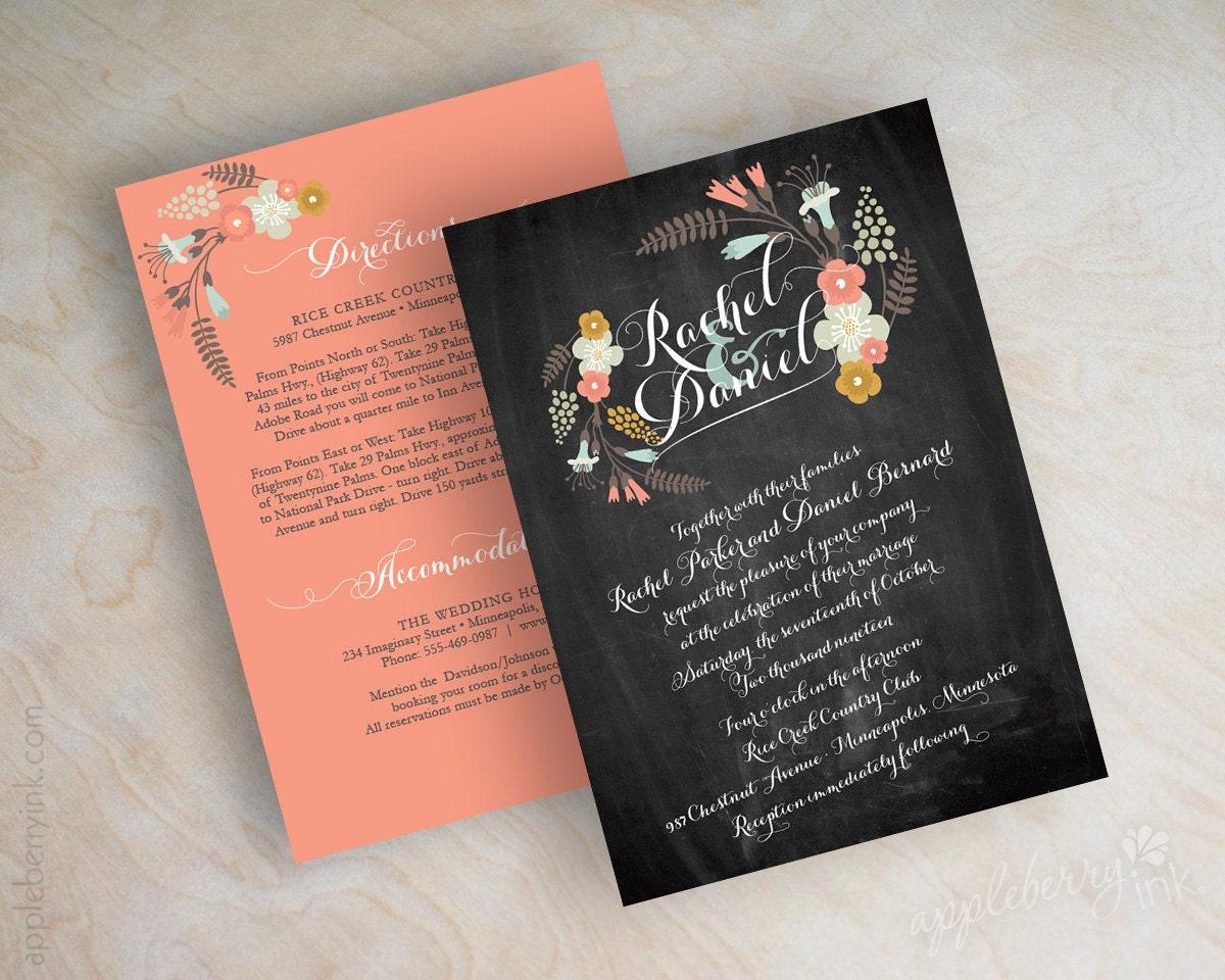 Chalkboard Wedding Invitations: Chalkboard Wedding Invitations Blackboard Wedding By