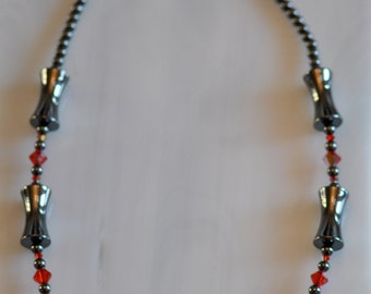 Hemalyke Blood Red Hourglass Necklace