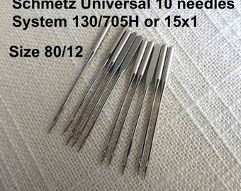 Size 80/12 Universal 10 Schmetz Sewing Machine Needles System 130/705H