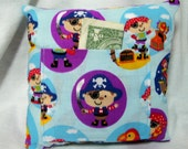 Tooth Fairy Pillow Cute Pirates, Treasure, and Parrot Handmade