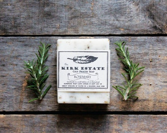 Rosemary // large bar // cold process soap // handmade soap // artisan soap // all natural soap // lightly scented // vegan soap // herbal