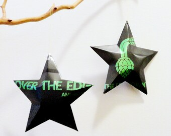 Over the Edge America, The Unknown, Christmas Ornament Recycled Upcycled Decor Star from Can