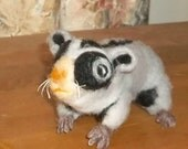 One of a Kind Needle Felted Sugar Glider
