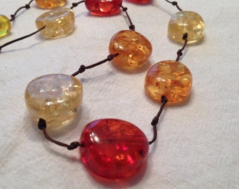 Polished Amber Necklace Yellow Butterscotch Cherry